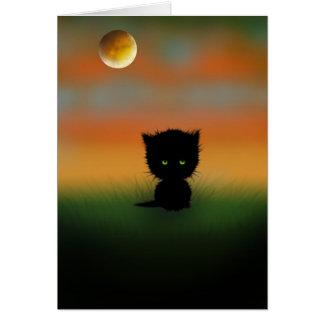 モーリーハリスンによるハロウィンの子ネコカード カード