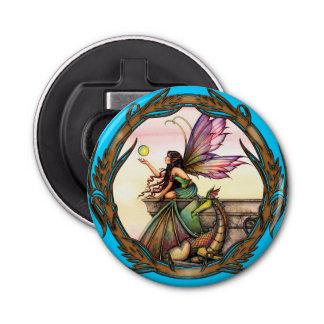 モーリーハリスンによる妖精およびドラゴンのファンタジーの芸術 栓抜き