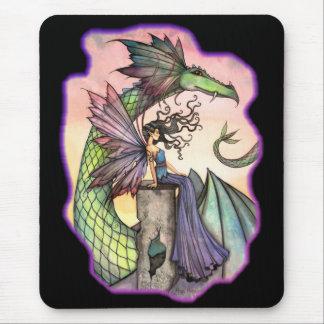 モーリーハリスンによる妖精のドラゴンのマウスパッド マウスパッド