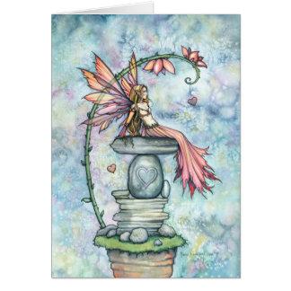 モーリーハリスンによる妖精のバレンタインカード グリーティングカード