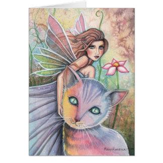 モーリーハリスンによる妖精猫カード グリーティングカード