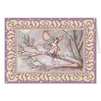 モーリーハリスンによる星の妖精の空白のなカードの木 カード