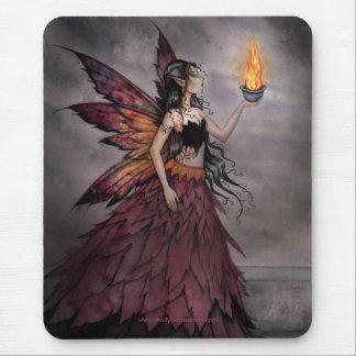 モーリーハリスンによる火のマウスパッドの妖精 マウスパッド