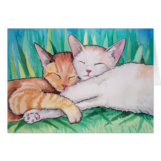 モーリーハリスンによる睡眠猫カード カード