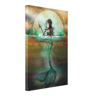 モーリーハリスンによる神秘的な海の人魚のファンタジーの芸術 キャンバスプリント