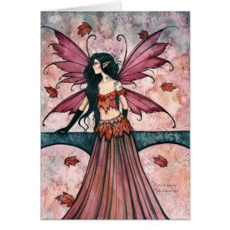 モーリーハリスンによる秋の妖精カードの綴り カード