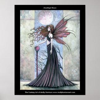 モーリーハリスンによる紫色の月の妖精ポスター ポスター