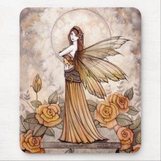 モーリーハリスンによる美しいばら色の妖精のマウスパッド マウスパッド