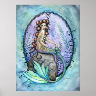 モーリーハリスンによる美しい人魚ポスター ポスター