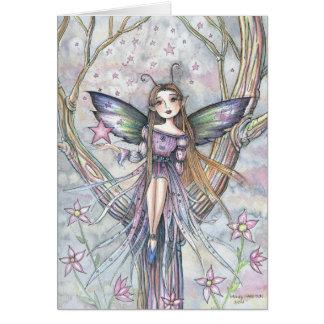モーリーハリスンによる落下星の妖精の空白のなカード カード