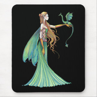 モーリーハリスンによる訓練の緑の妖精のドラゴン マウスパッド