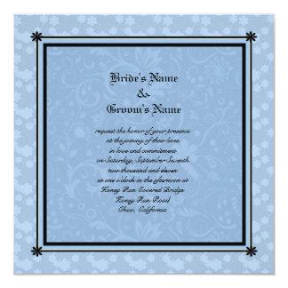 モーリーハリスンによる青い花の結婚式招待状 カード