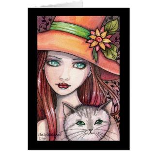 モーリーハリスンによる魔法使い猫カード カード