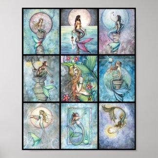 モーリーハリスンによる1枚のポスターの9匹の人魚 ポスター