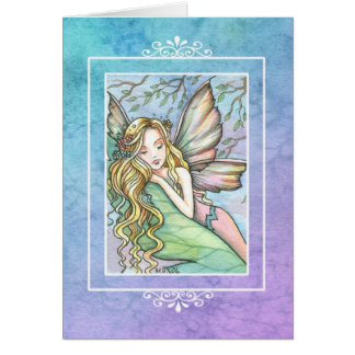 モーリーハリスンによるSleepytimeの妖精の空白のなカード カード