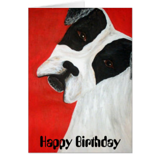 モーリー犬、ハッピーバースデー カード