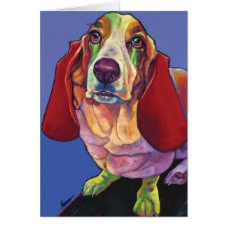 モーリーRonの焼跡によるバセット犬のセラピー犬カード カード