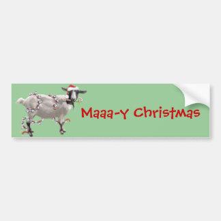 ヤギのクリスマス バンパーステッカー