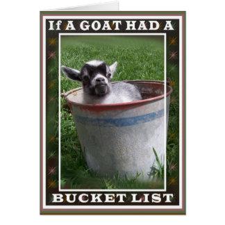 ヤギのバケツのリストカード カード