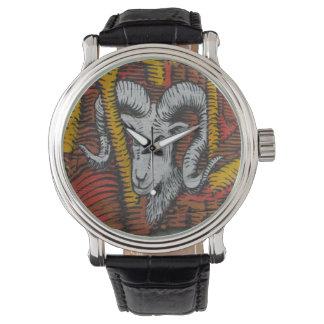 ヤギのヒツジのラムの落書きの年 腕時計