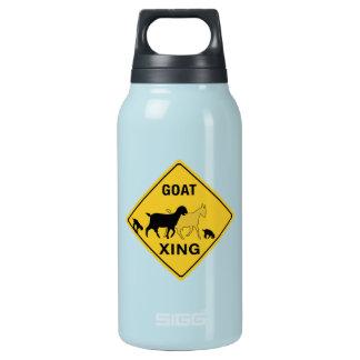 ヤギの交差、交通警告標識、インディアナ、米国 断熱ウォーターボトル