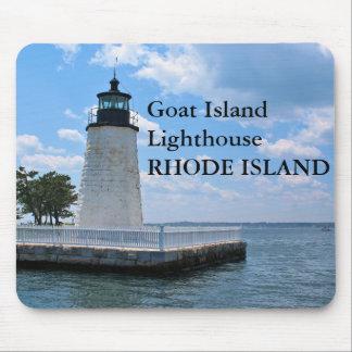 ヤギの島の灯台、ロードアイランドのマウスパッド マウスパッド