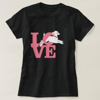 ヤギの恋人|の明るいピンクの暗いヤギL O V E Tシャツ