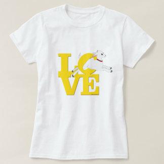 ヤギの恋人|の黄色いヤギL O V E -白いヤギ Tシャツ
