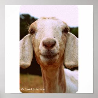 ヤギの芸術 ポスター