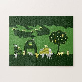 ヤギの農場のパズル ジグソーパズル