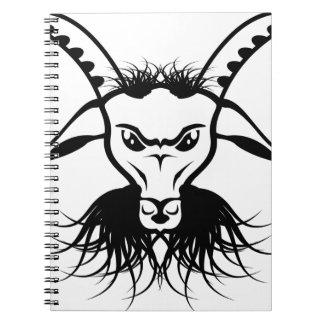 ヤギのSatanの悪魔の悪のベクトル ノートブック