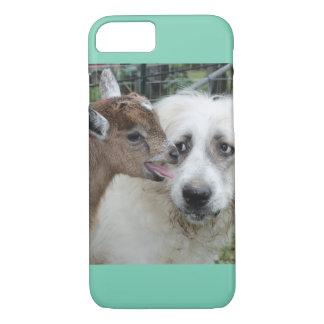 ヤギは犬の…私電話6.Barelyにそこに会います iPhone 8/7ケース