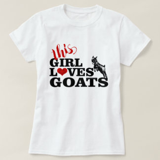 ヤギは|この女の子ヤギのピグミーのベビーを愛します Tシャツ