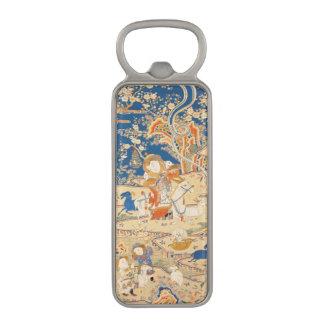 ヤギ年の(占星術の)十二宮図の中国のなタペストリーの栓抜き マグネット栓抜き