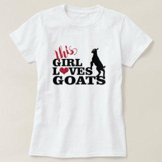 ヤギ愛|はこの女の子ヤギのベビーToggenburgを愛します Tシャツ