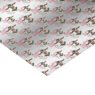 ヤギ のクリスマスの願いのベビーのヤギはToggに接吻します 薄葉紙