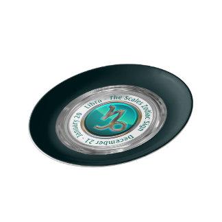ヤギ-山羊座の(占星術の)十二宮図の印 磁器プレート
