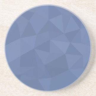 ヤグルマギクの青の抽象芸術の低い多角形の背景 コースター