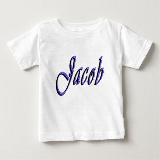 ヤコブの名前、ロゴ、ベビーの白いTシャツ ベビーTシャツ