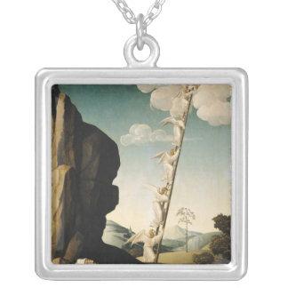 ヤコブの梯子、c.1490 シルバープレートネックレス