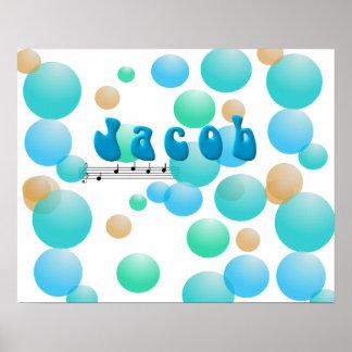 ヤコブの音楽的な一流の子供部屋部屋ポスター ポスター