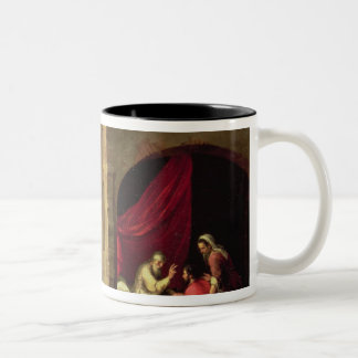 ヤコブを賛美しているアイザック ツートーンマグカップ