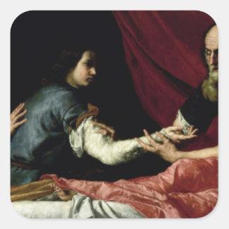 ヤコブ1637年を賛美しているアイザック スクエアシール