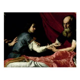 ヤコブ1637年を賛美しているアイザック ポストカード