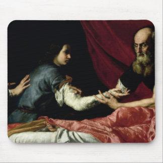 ヤコブ1637年を賛美しているアイザック マウスパッド