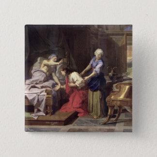 ヤコブ1692年を賛美しているアイザック 5.1CM 正方形バッジ
