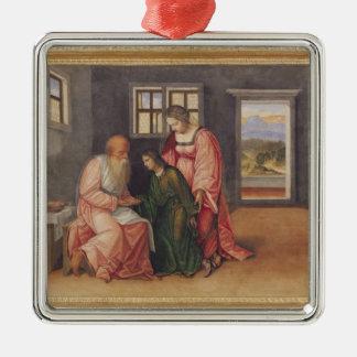 ヤコブ、c.1520を賛美しているアイザック メタルオーナメント