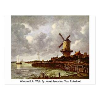 ヤコブIsaacksz.Van Ruisdael著Wijkの風車 ポストカード