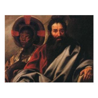 ヤコブJordaens著モーゼそして彼のエチオピアの妻 ポストカード