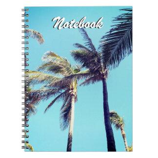 ヤシの木および青空 ノートブック